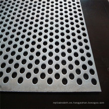 Patrón escalonado de 60 grados perforado Metal / agujero redondo metal perforado