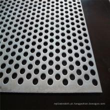 Metal perfurado desconcertado do teste padrão de 60 graus / metal perfurado furo redondo