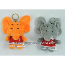 Новый тип милый и прекрасный плюшевый слон брелок