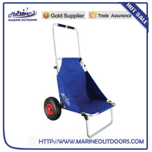 Folding Fishing Cart, Folding Aluminum Beach Cart, Beach Trolley Cart