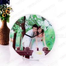 Sublimação vidro photo frame com relógio