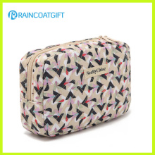 Travel Toiletry Cosmetic Makeup Bag Organizer with Mirror