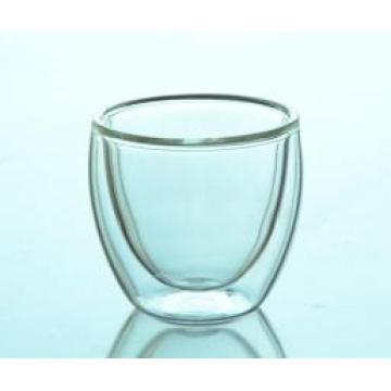 60ml Europe Style Double Wall Glass Coffee Cup Mug Tea Cup