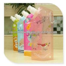 Pochette de jus de fruit emballée / stérilisée avec le bec / sac de boisson avec l'impression comique