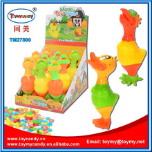 Rubber Duck Rooster Easter Chicken Toy with Candy