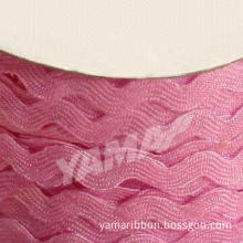 Pink Ric Rac Ribbon with Competitive Price and Fast Delivery, Used Instead of Bows on Gifts
