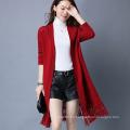 Lady Fashion Viscose Polyester Knitted Winter Fringe Cardigan (YKY2056)