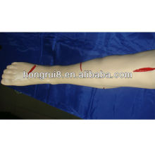 Pierna de sutura quirúrgica avanzada con sutura de ISO, modelo de sutura