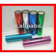 Metallized PET film/ aluminum metallic film/colorful twist film