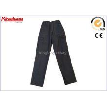 Black / Navy Cargo Jeans / Denim Work Trousers With Nylon Z
