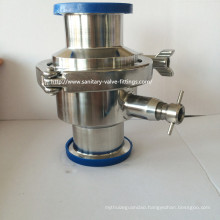 Sanitary Stainless Steel Tri Clamped Check Valve with Drain