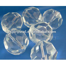2015 Perles de cristal transparentes blanches