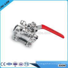 3 piece stainless steel ball valve 800 class