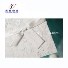 Luxury Elegant White handmade decoration greeting card,laser cut handwork paper greeting card