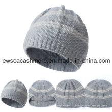 Женская высший сорт чистого кашемира шляпа с полосками A16wa4-001