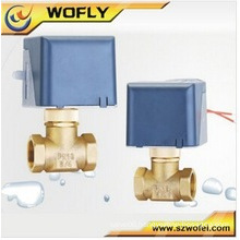 Brass Electric water valve flow control , directional control globe valve