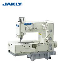 JK1302-4W Cama Plana Dupla Cadeia Ponto Picot Dobr Bend Máquina de Quatro Máquinas de Costura Industrial de Retorno-costura Em Ziguezague