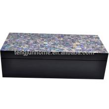 CPA-BPSBL Nouvelle-Zélande Paua Shell Boîte à bijoux avec peinture noire Large