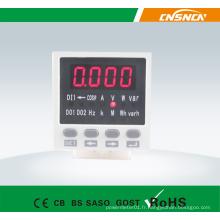 E8 Taille du panneau 48 * 48mm Digital AC LED Moniteur monophasé multifonction, peut ajouter l'entrée du commutateur et la sortie de transmission