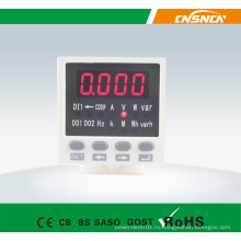 E8 Размер панели 48 * 48 мм Цифровой светодиодный индикатор переменного тока Однофазный многофункциональный измерительный прибор, может добавлять входной сигнал переключения и передачу