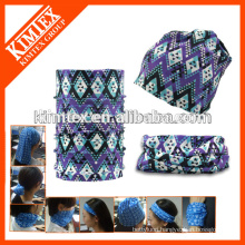 Tube custom printed cheap elastic designer headwear