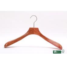 High-end alargar ombro sólido cabide de madeira