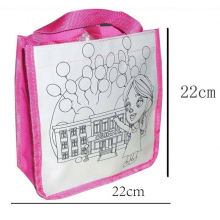 kids DIY painting bag,drawing school bag set canvas school bag