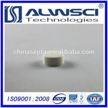 Fertigung 24-400 Weiß PP Geschlossene Kappe mit 1,5mm Septa, Durchstechflasche