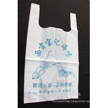 T-shirt plastic bag for shopping and supermarket
