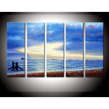 Peinture de paysage marin d'art de toile moderne de haute qualité (SE-196)