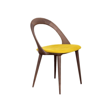 Gestoffeerde Hotel Restaurant Wood Ester Dining Chair