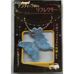 Butterfly Shape Reflective PVC Key Chain Accessories