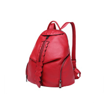 Fashion Ladie Daypack Front Leaf Zipper PU Backpack WZX1169