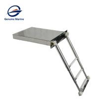 Stainless Steel 2 Step 3 Step Nonslip Box Folding Marine Yacht Boat Swim Ladder