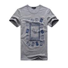 Men Cotton Short Sleeve T Shirts O-Neck Printed tshirts Summer New