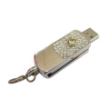 Nuevo estilo Pen Drive Metal Swivel Memory Stick