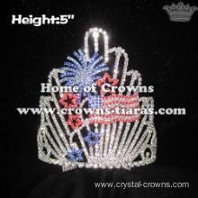 Firework Crystal 4th of July Rhinestones Crowns