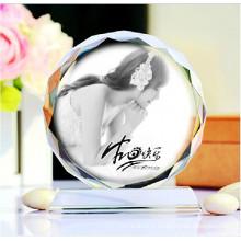 Hight qualité gravure cristal cadre photo en verre