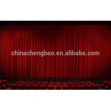 Led light electric stage curtain with motor controlled