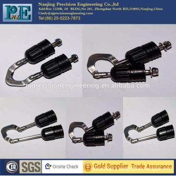 customized cnc machining parts fishing hook mechanical assemble