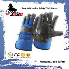 Cuero de cuero oscuro Cuero Mano Seguridad Guante de Trabajo Industrial