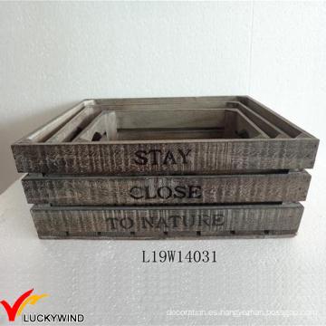 Diseño de madera del empaquetado del francés de Brown del vintage