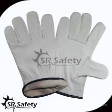 SRSAFETY cow grain leather work gloves
