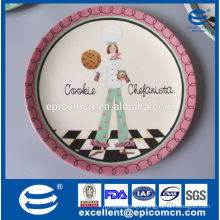 new bone china cake plate for wedding, ceramic cookie plate china manufacture
