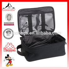Bolso de viaje de viaje negro Bolso de organizador de mini accesorios