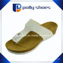 Женская Т-ремень сандалии с открытым носком вьетнамки поскользнуться на стринги