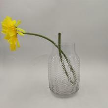 Embossed Pattern Crystal Glass Vase