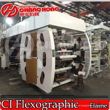 Máquina de impressão Flexographic tecida HDPE / PP dos sacos