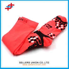 Bright Colored Advance Lightweight High Quarter Soccer Socks / Mix Knit Over-the-knee Tipped Athletic Chaussettes pour hommes