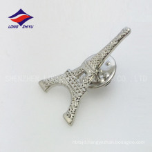 Elegant metal hollowing butterfly silver tower badge
